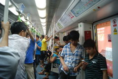 Shenzhen, Chinese: take the subway Stock Photo