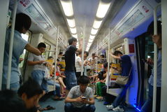 Shenzhen, Chinese: take the subway Royalty Free Stock Photo