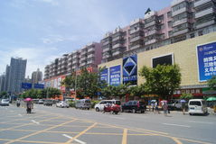 Shenzhen, chino: Tráfico de City Road Fotos de archivo libres de regalías