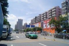 Shenzhen, chino: Tráfico de City Road Fotografía de archivo