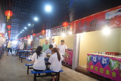 Shenzhen, chinês:: Rua do alimento Foto de Stock Royalty Free