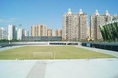 Shenzhen, Chiny: boisko piłkarskie Obrazy Stock