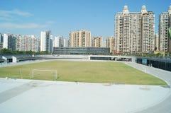 Shenzhen, Chiny: boisko piłkarskie Zdjęcie Stock