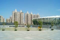 Shenzhen, Chiny: boisko piłkarskie Obraz Stock