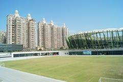 Shenzhen, Chiny: boisko piłkarskie Zdjęcia Stock