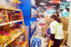 Shenzhen, Chiny: Centrów handlowych akwaria zdjęcie stock