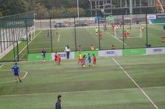Shenzhen, Chiny: Children futbolowi w szkoleniu Obraz Royalty Free