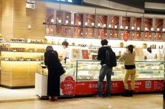 Shenzhen, Chiny: chleba i torta sklep Obrazy Royalty Free
