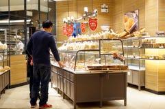 Shenzhen, Chiny: chleba i torta sklep Fotografia Stock