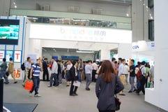 Shenzhen, Chiny: Cześć technika jarmark Zdjęcia Royalty Free