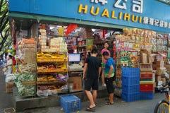 Shenzhen, Chiny: Hurtowy jedzenie rynek Zdjęcie Royalty Free