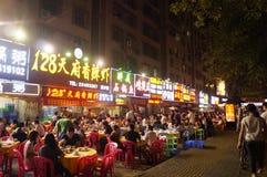 Shenzhen, Chiny: jedzenie opóźnia w nocy Zdjęcie Royalty Free