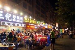 Shenzhen, Chiny: jedzenie opóźnia w nocy Fotografia Royalty Free
