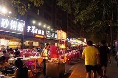 Shenzhen, Chiny: jedzenie opóźnia w nocy Obrazy Stock