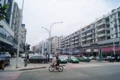 Shenzhen, Chiny: 107 Krajowy Drogowy ruch drogowy Zdjęcia Royalty Free
