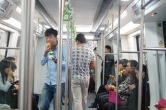 Shenzhen, Chiny: metro ruch drogowy Zdjęcie Royalty Free