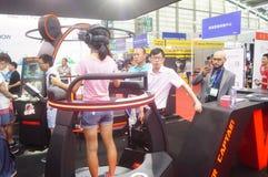 Shenzhen, Chiny: międzynarodowa rzeczywistość wirtualna, holograficzna technologii wystawa Zdjęcia Royalty Free