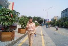 Shenzhen, Chiny: miasto ulicy krajobraz Zdjęcia Stock