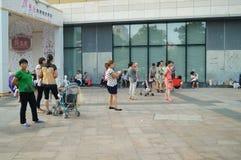 Shenzhen, Chiny: opieka dla wnuków Zdjęcia Royalty Free