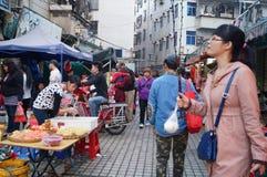 Shenzhen, Chiny: przekąska kramy Zdjęcie Stock