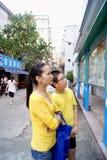 Shenzhen, Chiny: Szkolna propagandowa kolumna zdjęcie royalty free