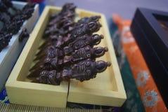 Shenzhen, Chiny: Tybetańskie biżuterii wystawy sprzedaże zdjęcie royalty free