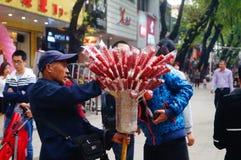 Shenzhen, Chiny: Ulicznego bubla candied owoc Zdjęcie Royalty Free