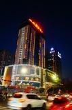 Shenzhen, Chiny: uliczny noc krajobraz Obrazy Royalty Free