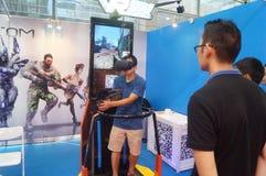 Shenzhen, Chiny: VR park tematyczny, immersive Obraz Royalty Free