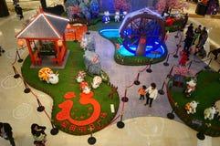 Shenzhen, Chiny: Wystrzał sztuki obrazu cakli wystawa Zdjęcia Royalty Free