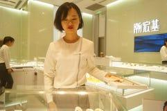 Shenzhen, Chiny: złoto srebny sklep jubilerski Zdjęcie Royalty Free