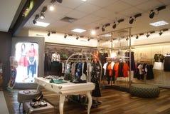 Shenzhen, Chiny: zakup odzież Zdjęcia Stock