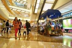 Shenzhen, Chiny: zakupy centrum handlowego wnętrza krajobraz Obrazy Stock