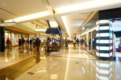 Shenzhen, Chiny: zakupy centrum handlowego wnętrza krajobraz Zdjęcia Stock