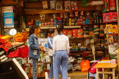 Shenzhen, Cina: allievi femminili Fotografia Stock Libera da Diritti