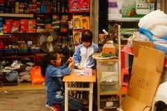 Shenzhen, Cina: allievi femminili Fotografie Stock