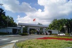 Shenzhen, Cina: Architettura del paesaggio del comune Immagini Stock Libere da Diritti