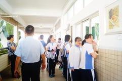 Shenzhen, Cina: aula della scuola secondaria Fotografie Stock