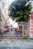 Shenzhen, Cina: bambini che giocano pallacanestro Fotografia Stock Libera da Diritti