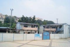 Shenzhen, Cina: caserma di costruzione Immagine Stock Libera da Diritti