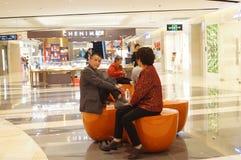 Shenzhen, Cina: Centro commerciale di Tianhong Fotografia Stock Libera da Diritti