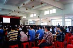 Shenzhen, Cina: Conferenza di istruzione di psicologia della scuola secondaria Fotografia Stock
