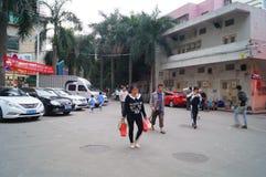 Shenzhen, Cina: dopo gli allievi della scuola Fotografia Stock