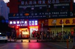 Shenzhen, Cina: fare la coda per comprare i biglietti di treno Fotografie Stock Libere da Diritti