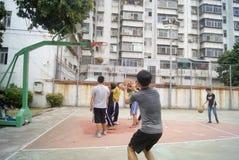 Shenzhen, Cina: gioco della pallacanestro Immagini Stock