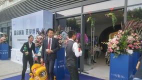 Shenzhen, Cina: i nuovi edifici residenziali iniziano le attività di vendita sulla scena immagini stock libere da diritti