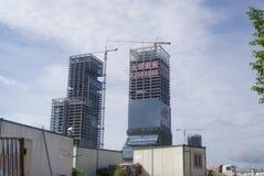 Shenzhen, Cina: il cantiere della gru a torre Immagine Stock Libera da Diritti