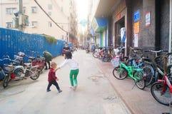 Shenzhen, Cina: il paesaggio del villaggio nella città Immagine Stock