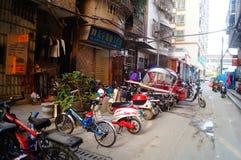 Shenzhen, Cina: il paesaggio del villaggio nella città Fotografia Stock Libera da Diritti