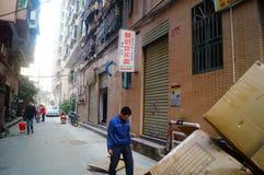 Shenzhen, Cina: il paesaggio del villaggio nella città Immagine Stock Libera da Diritti
